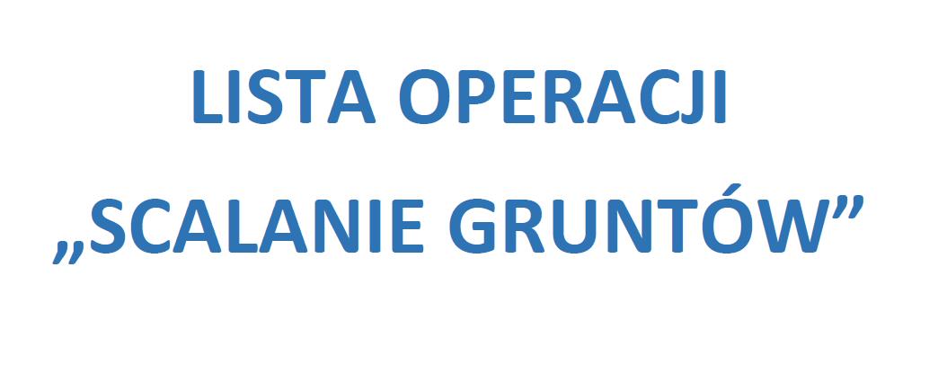 Lista operacji zakwalifikowanych do współfinansowania dla operacji typu